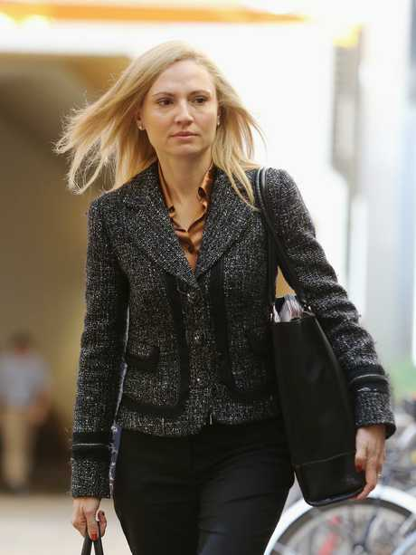 Anna Palmer arrives at the Federal Court in 2017. Picture: Claudia Baxter