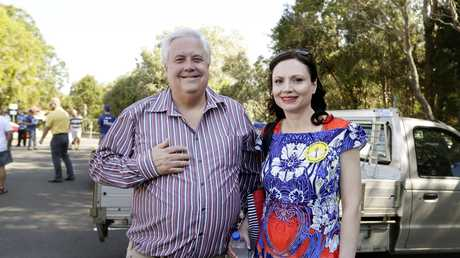 Clive and Anna Palmer at the Mt Coolum Day Care centre polling Booth in 2013. Picture: Slade Megan