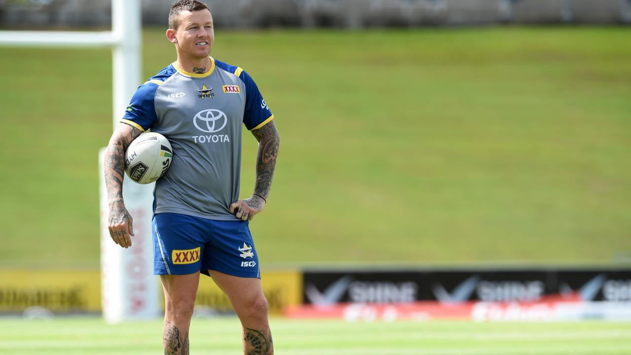 Cowboys training from 1300 Smiles Stadium. Todd Carney. Picture: Zak Simmonds