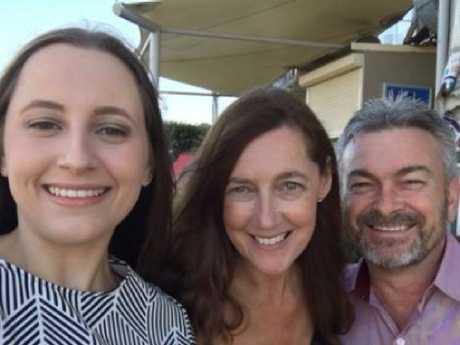 Sarah, Karen and Borce Ristevski.