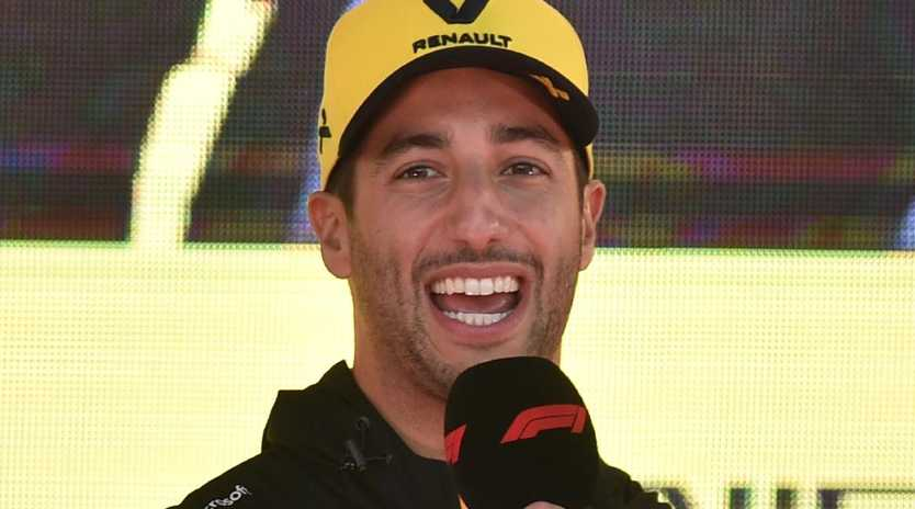 Daniel Ricciardo speaks ahead of teh Australian Grand Prix. (Photo by PETER PARKS/AFP)