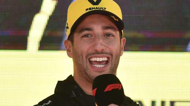 Daniel Ricciardo speaks ahead of teh Australian Grand Prix. (Photo by PETER PARKS/AFP)