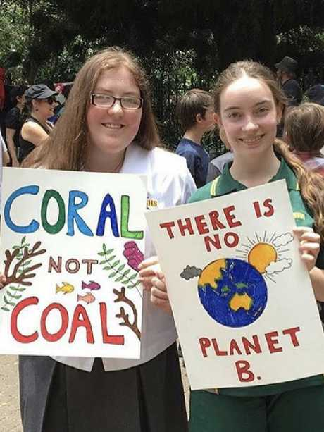 Sara McKoy and Claudia Blomberg will take part in the Climate March. Picture: Supplied