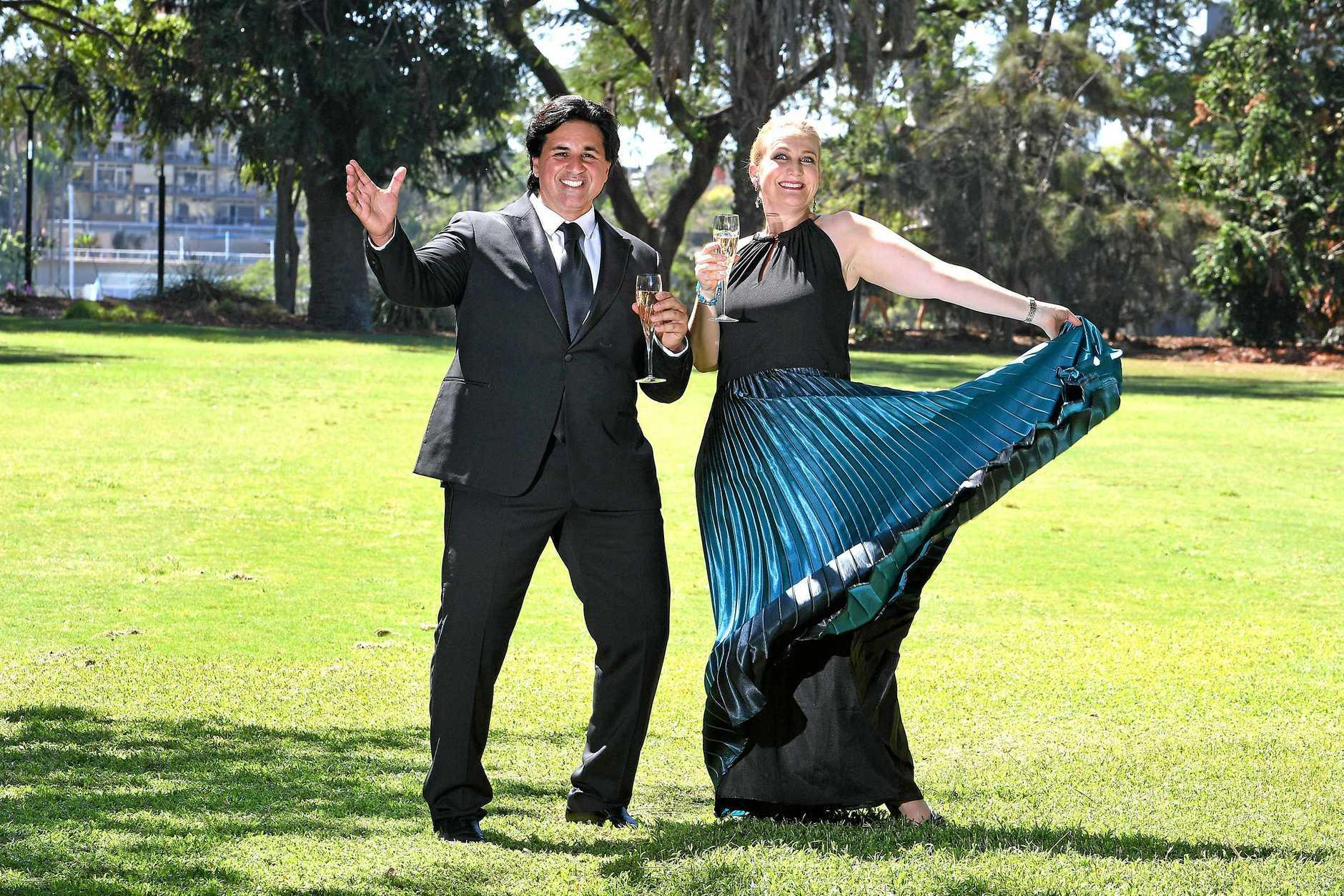 OUTDOOR OPERA: Singers Rosario la Spina and Sarah Crane will star in Opera at Jimbour.