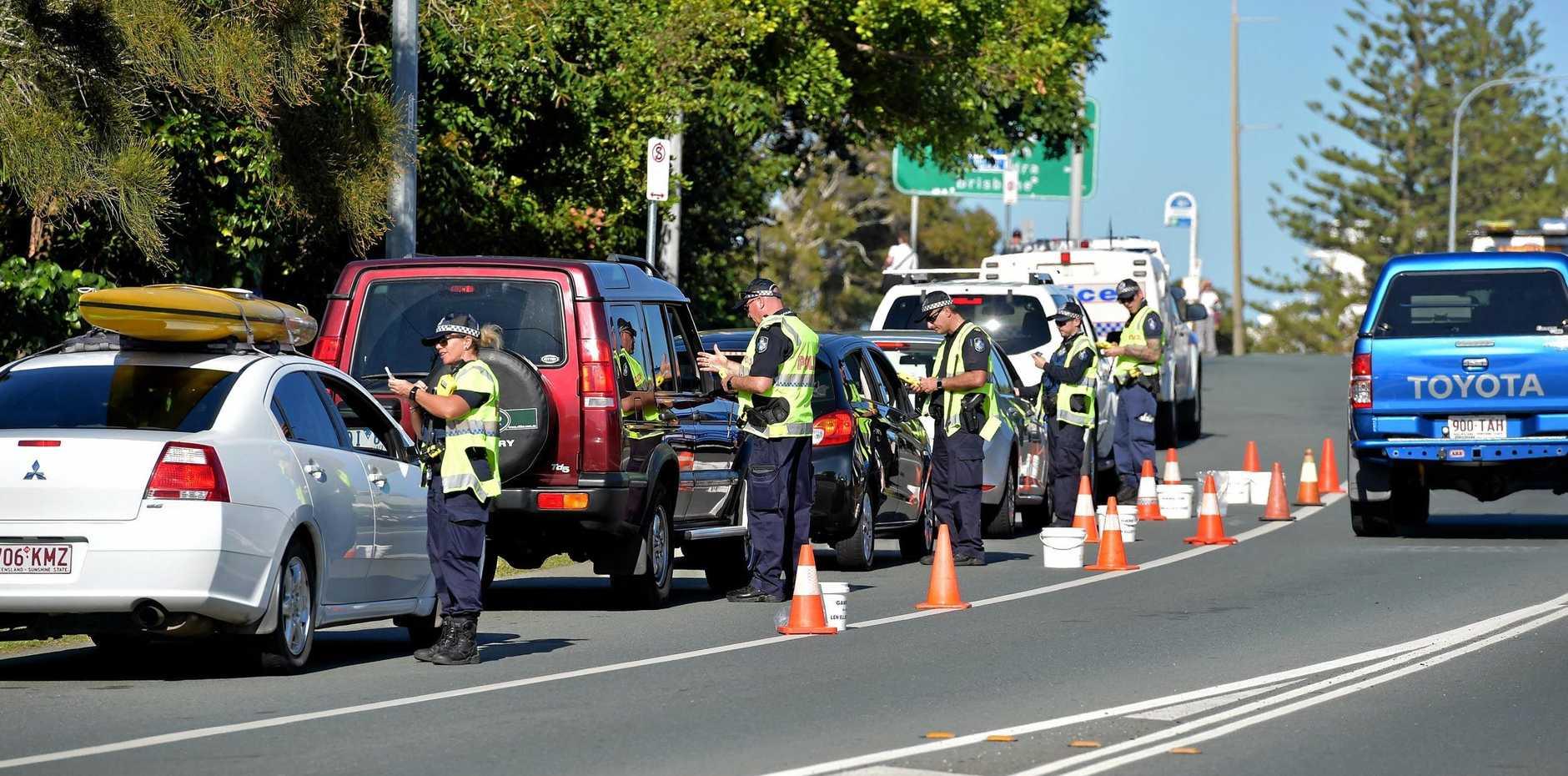 Sunshine Coast Police conduct a Random Breath Test operation at Alexandra Headland
