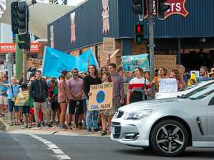 Coffs students cut class for climate protest