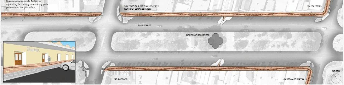 Design one for the Murgon footpath put forward by the South Burnett Regional Council.