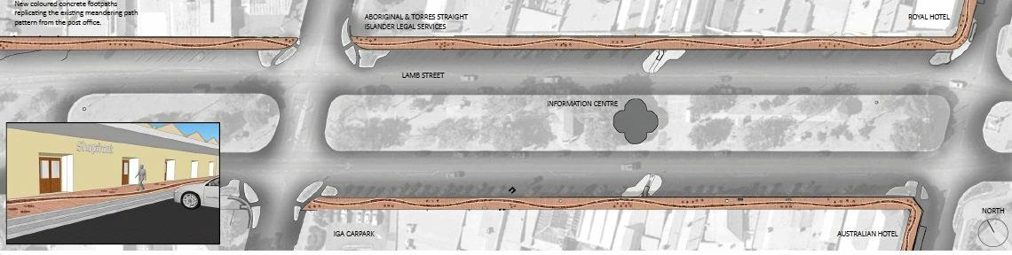Design two for the Murgon footpath put forward by the South Burnett Regional Council.