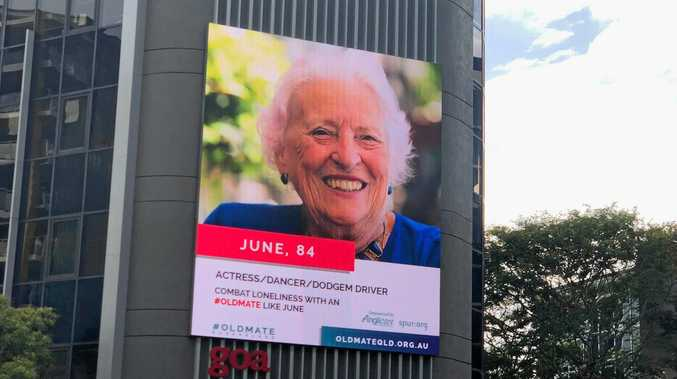 June Crowther is one of 12 Sunshine Coast residents featured in the Anglicare campaign. She says she loves the attention it brings the organisation.