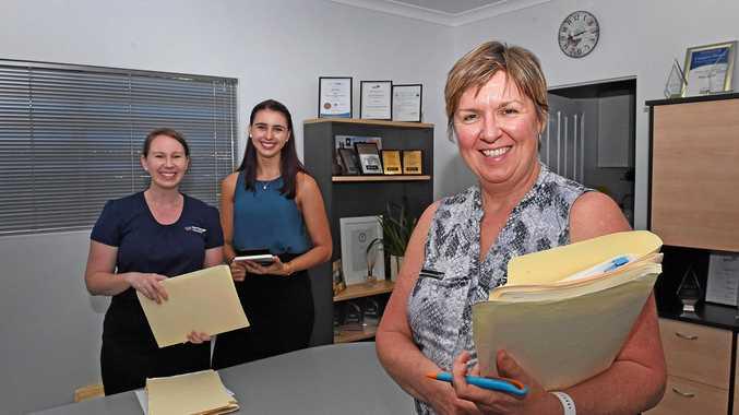 TURNAROUND WELCOME: Sam Fischer (left), Kirah Adamson and Peta Short from Mortgage Choice Hervey Bay.