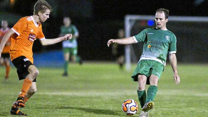 READY: Mitch Innocend will play for Clinton against Nerimbera Magpies tonight. Innocend score three goals in CFC's 3-0 trial win against Maryborough side Sunbury FC last weekend.