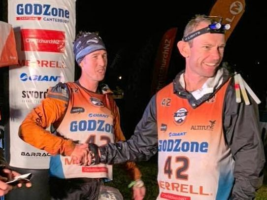 Wurtulla's David Schloss (right) finishes Godzone adventure race with team ThoughtSports.