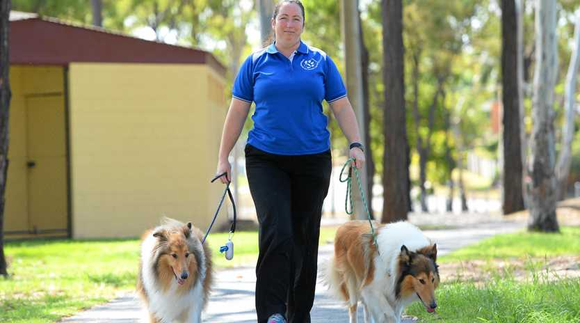 Naomi Shaw, pictured with her Collies Willow and Abby, believes it is important to give your dog an easy to understand name.