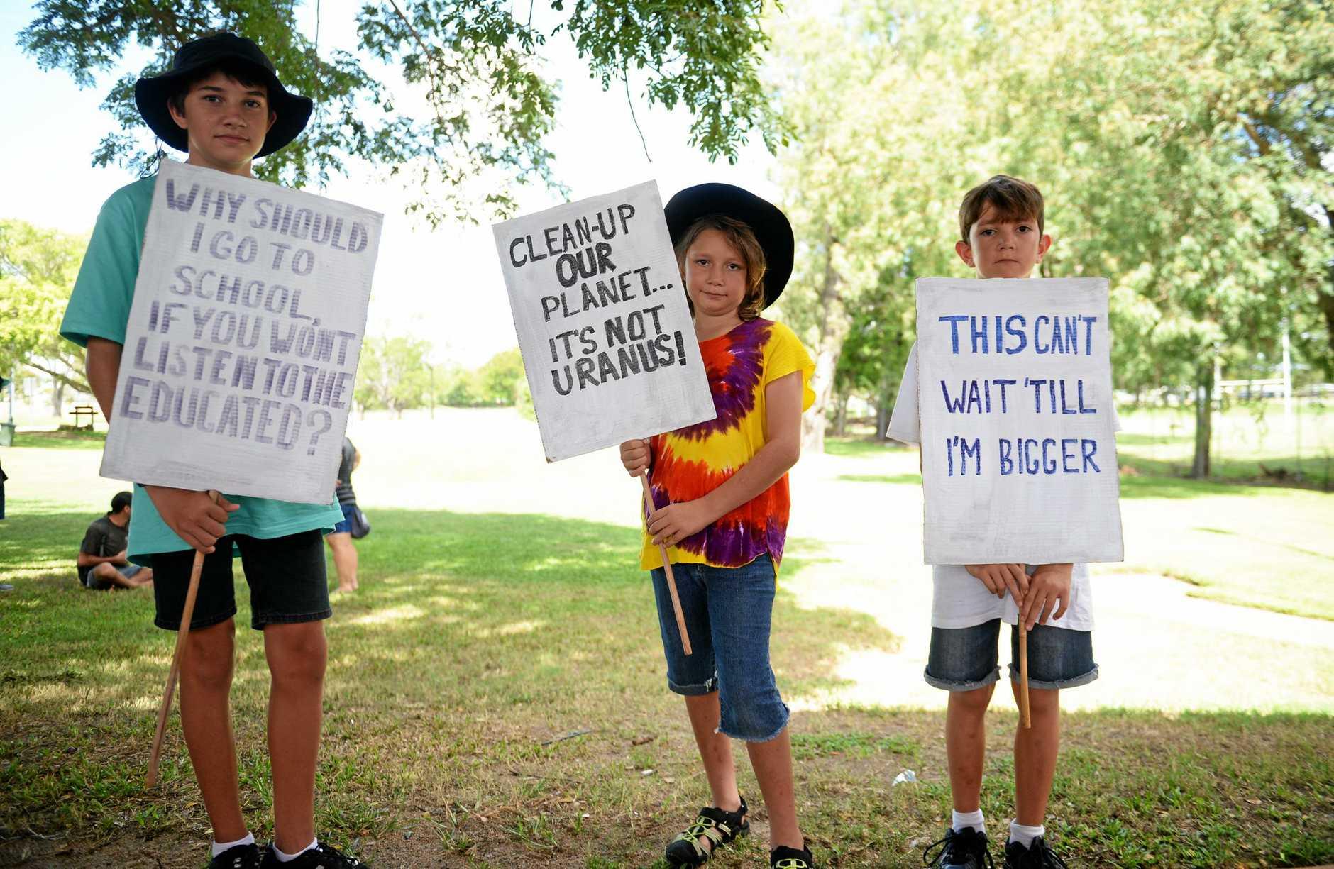 Global climate strike Bilay Trindall, Trindall Trindall and Dougie Trindall.