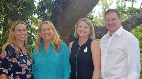 Brandy Murley, Sue Manton, Sharon and Llew O'Brien celebrate the Federal Government's $750k commitment to Little Haven Palliative Care early this month.