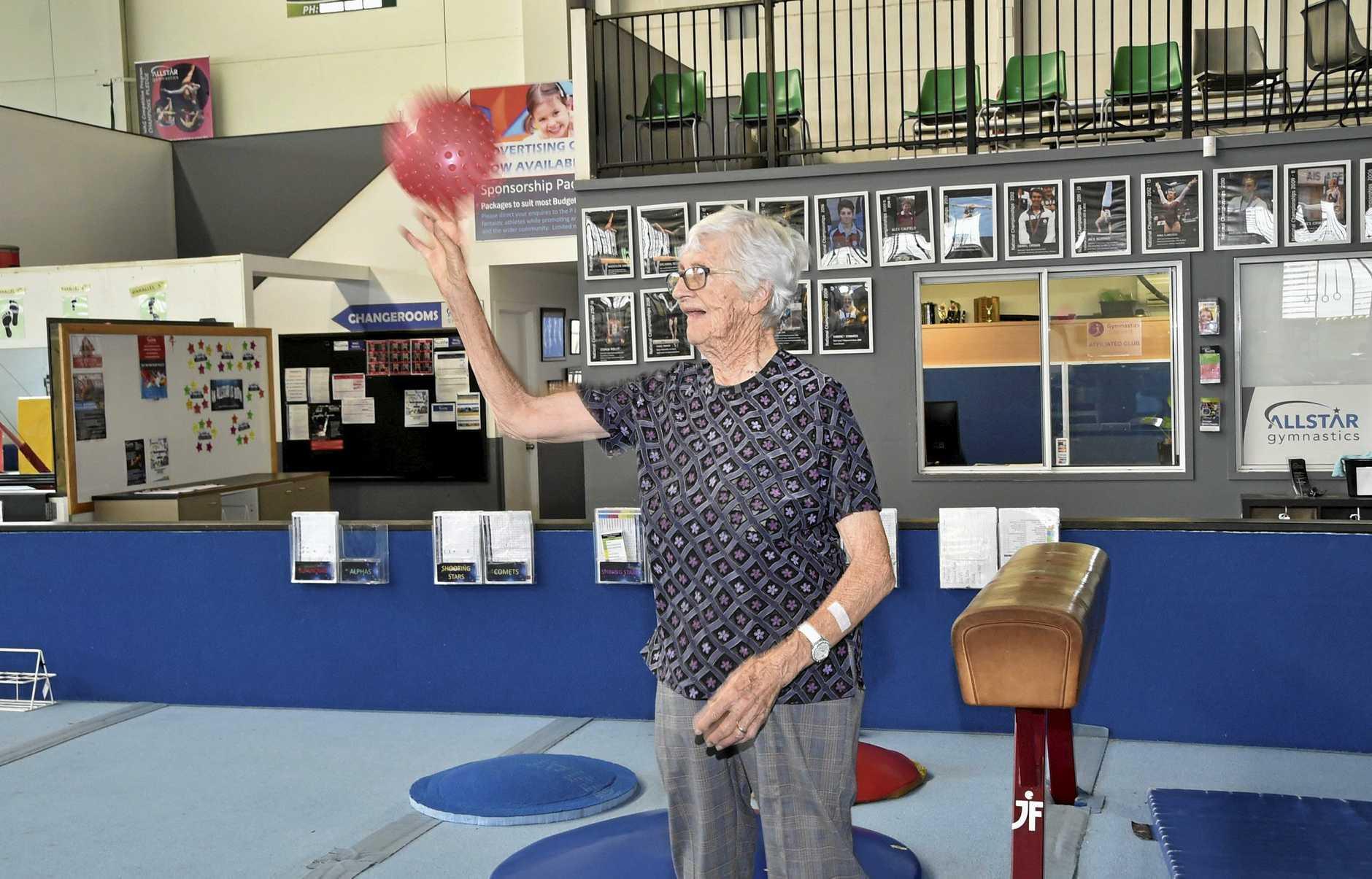 Joan Bell. Move for Life program at Allstar Gymnastics. march 2019