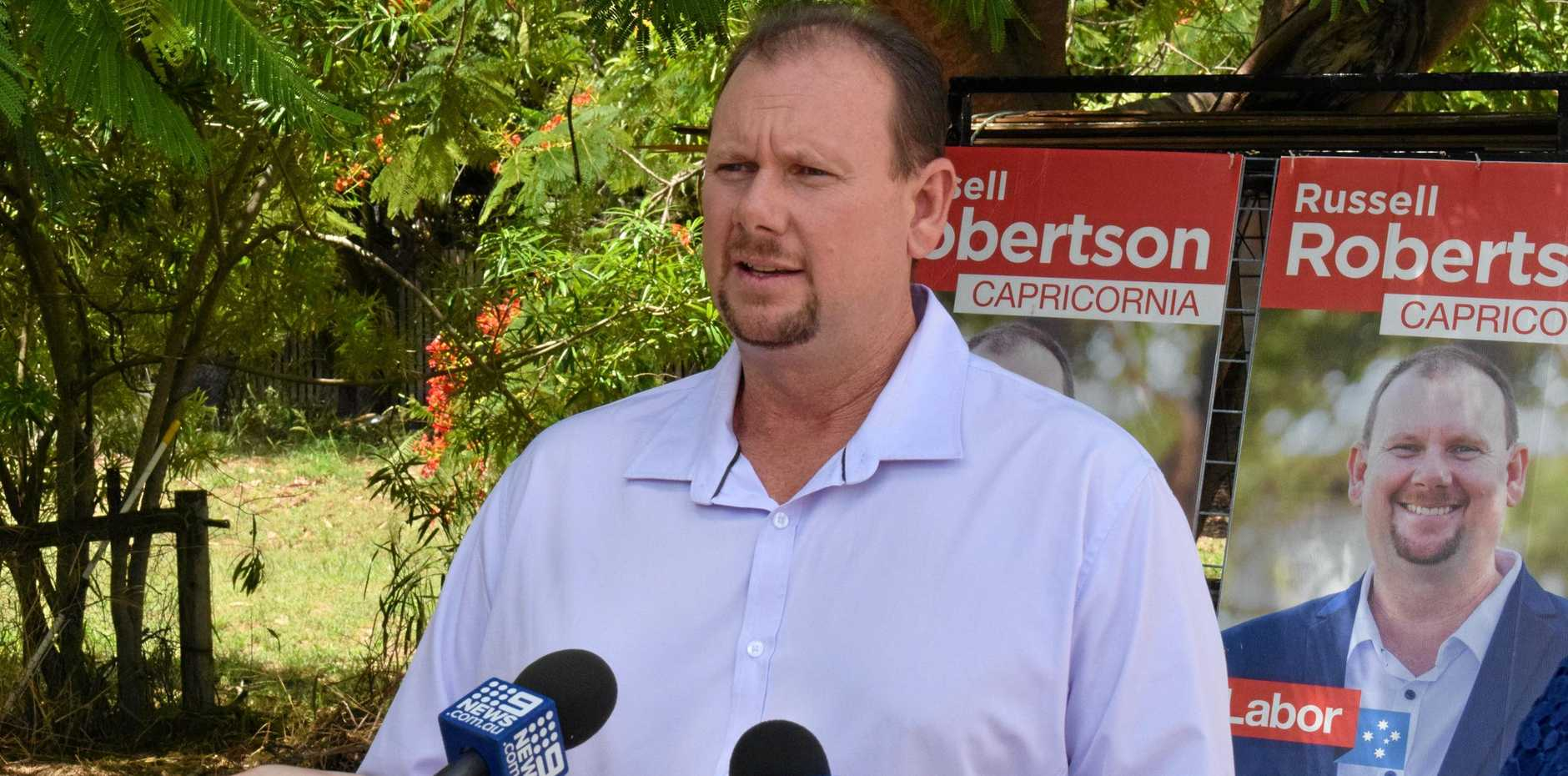 REPEATING SUPPORT: Labor's candidate for Capricornia Russell Robertson has come out again in support of the coal industry following the LNP's accusations that Labor was waging a war against coal.