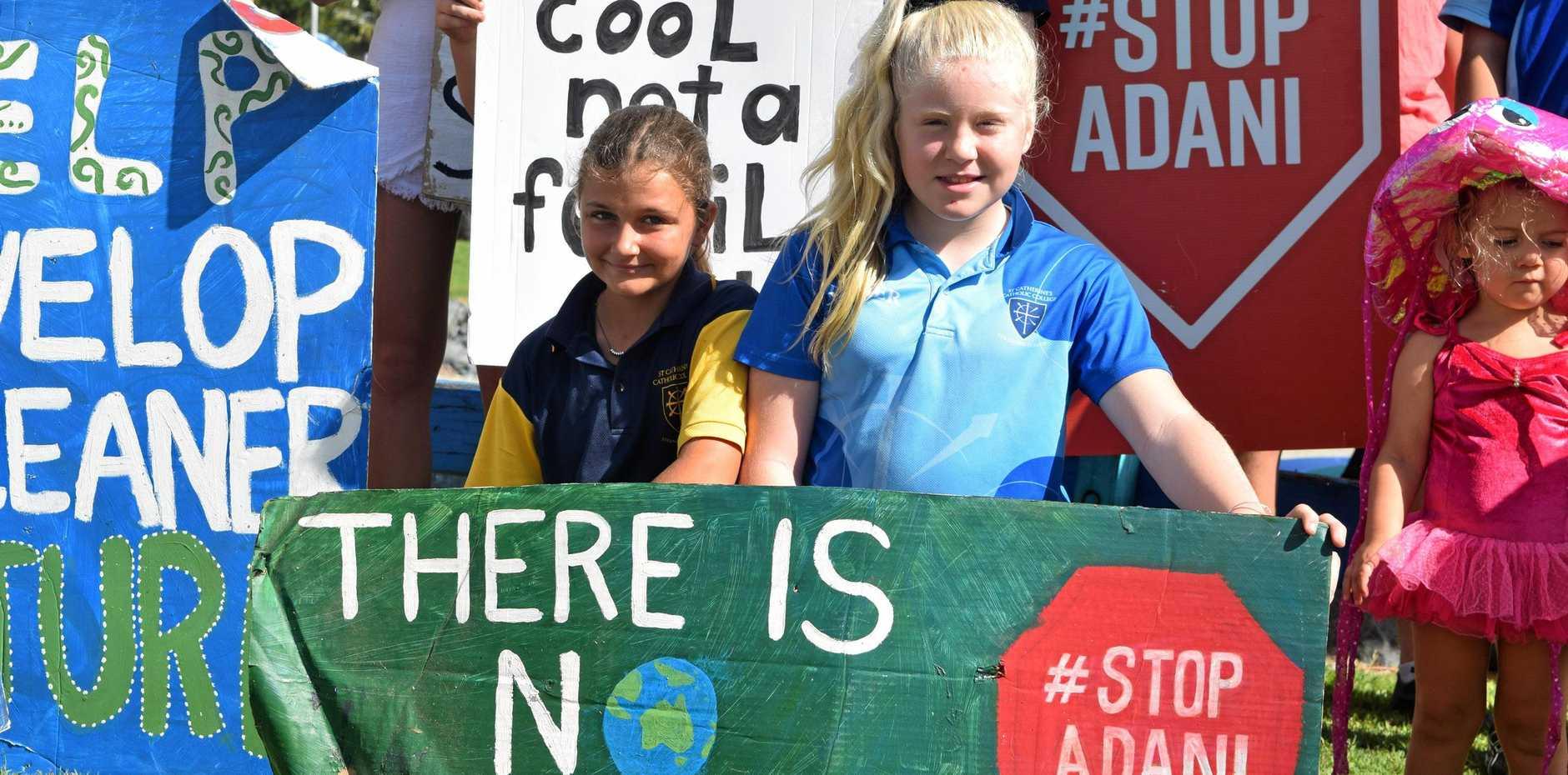 STRIKES: Katie Maund and Mia Duft want their voices heard.