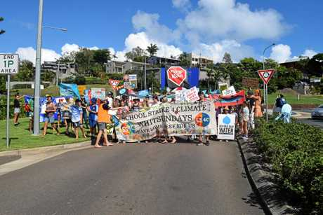Thousands of students from across Australia have joined the global strikes, led by student run School Strike 4 Climate and Whitsunday students today demanded urgent political action on climate change.