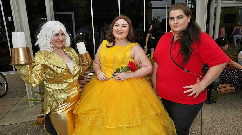 DRESSED TO IMPRESS: Rachelle Arnold, Aliciah Cook and Courtney Hansen at a previous CapriCon event.