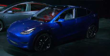 Elon Musk unveiled the Model Y today.