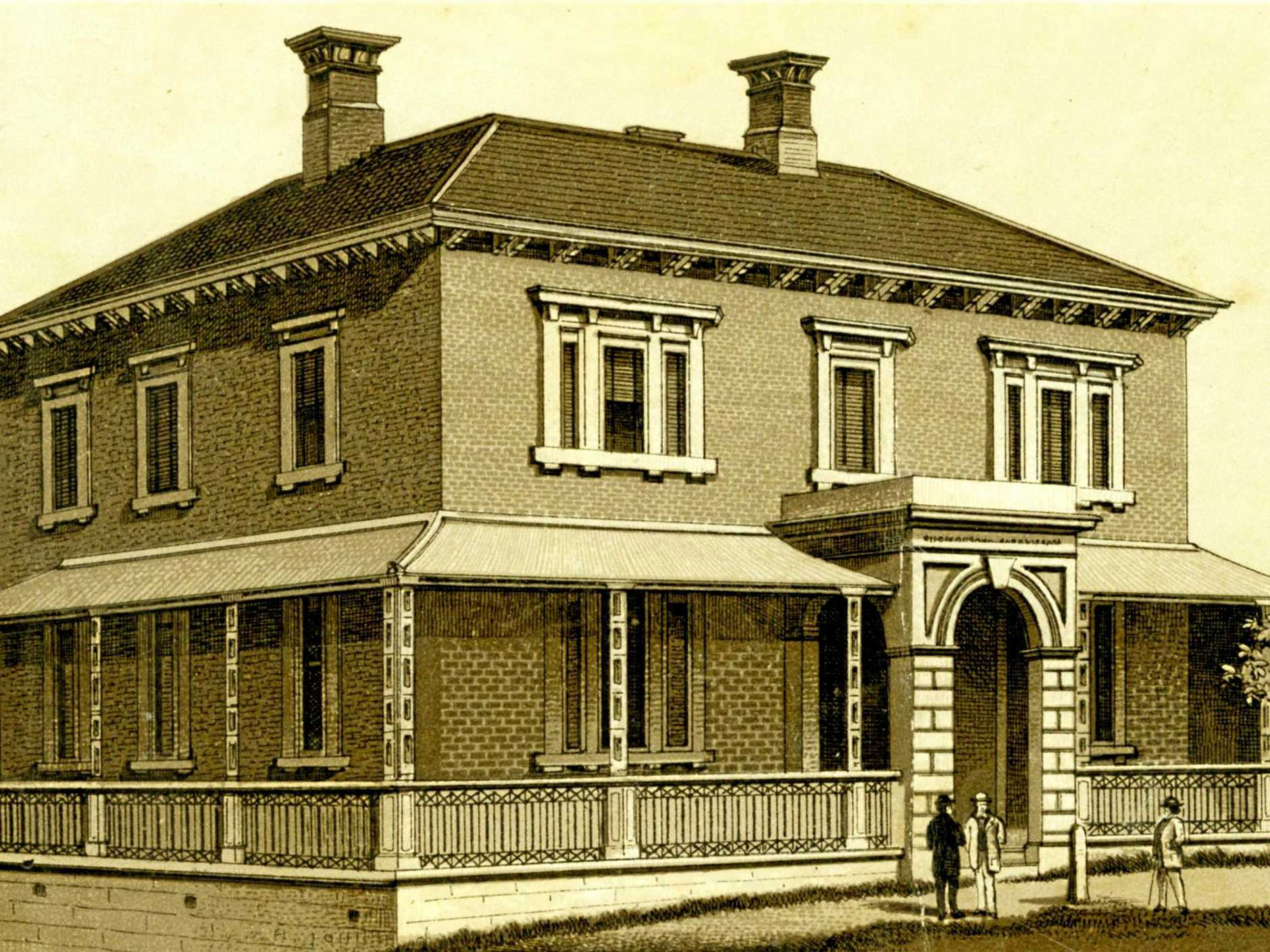 INSTITUTION: The Bank of New South Wales which was on the corner of Brisbane and Bell streets in Ipswich, from 1863-1932.