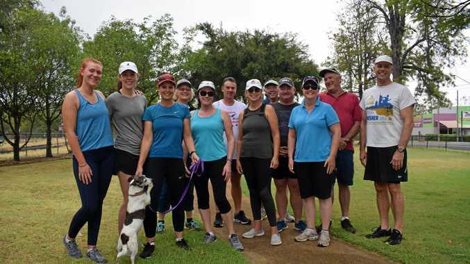 FUN FITNESS: Chinchilla's unofficial parkrunners enjoy going for a walk, jog or run.