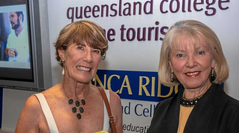 President of Zonta Stanthorpe Peggy Channon and Cheryl Hutchings from major sponsor Savina Lane.