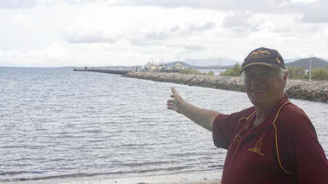 READY TO ADOPT AGAIN: The town could see another naval vessel docked at the Bowen jetty thanks to Bowen RSL past president Brian Germain.