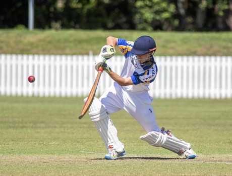 Will BAiley drives on the up for Sawtell against Harwood