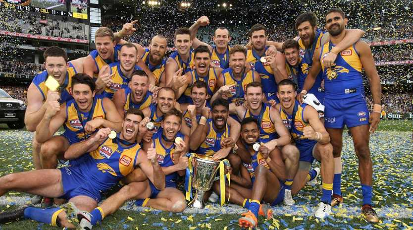 Only two AFL team captains believe the Eagles will line up in the 2019 grand final. Picture: Michael Klein
