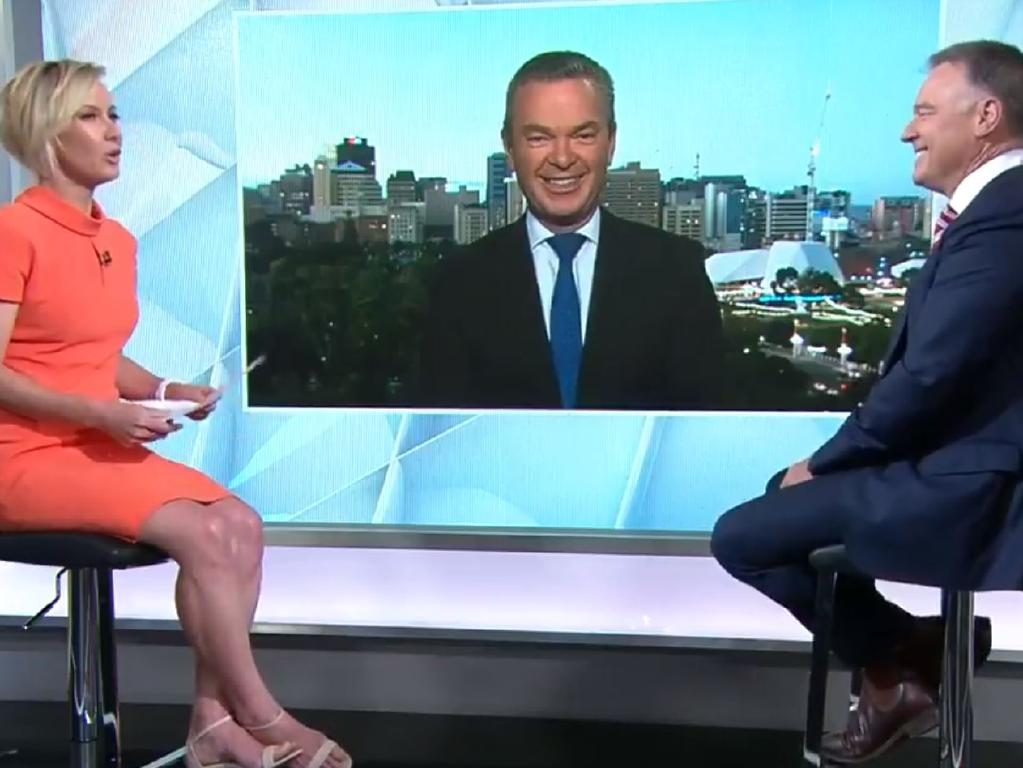 "Christopher Pyne said he was ""very happy"" about his political exit. Picture: Nine Entertainment Co/Today Show"
