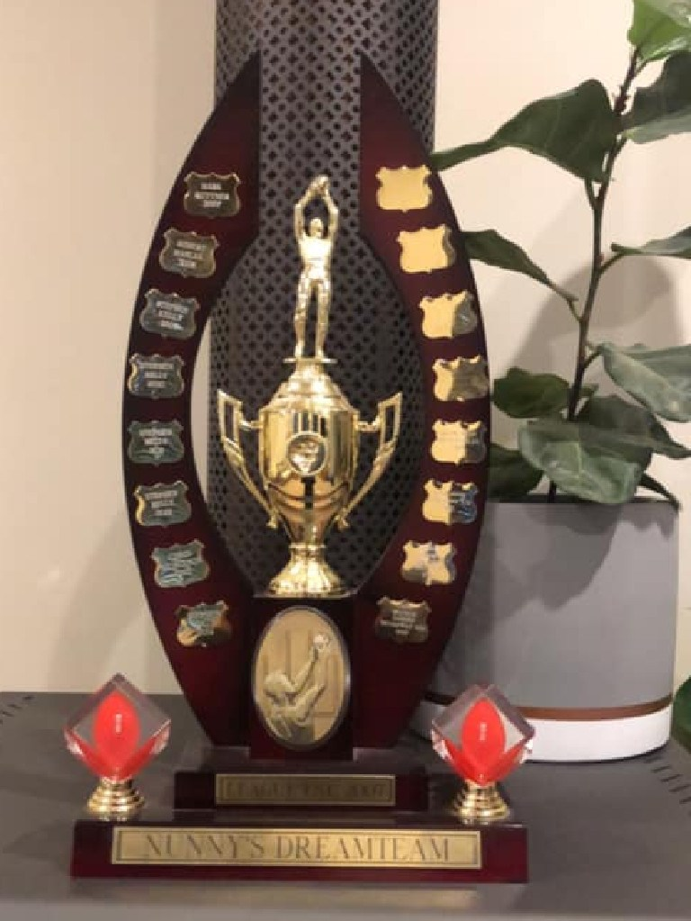 There's only one way to get your name engraved on this trophy - win Tristan Batten's SuperCoach league.