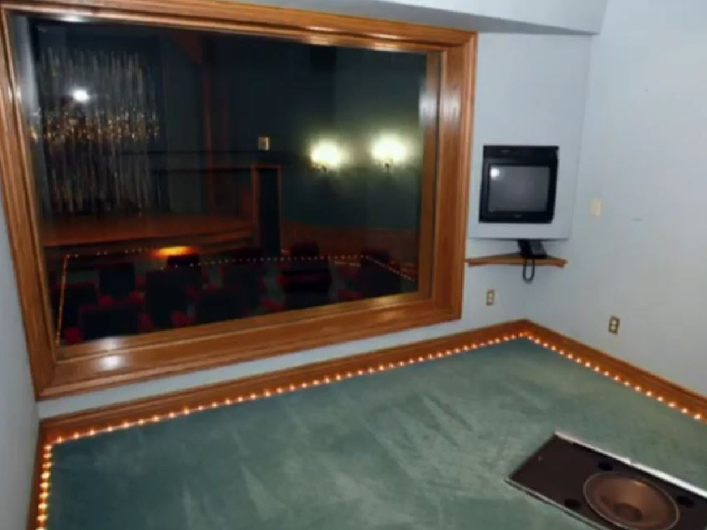 A room with a double sided mirror looking onto Neverland's cinema. Picture: Leaving Neverland