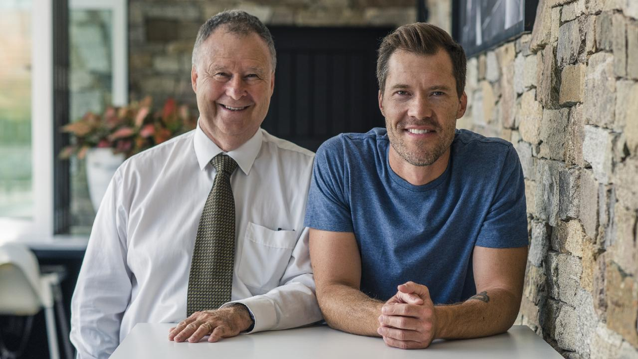 Bill Wight, (left) and Andrew Wight, father-and-son team behind divorce app Adieu.