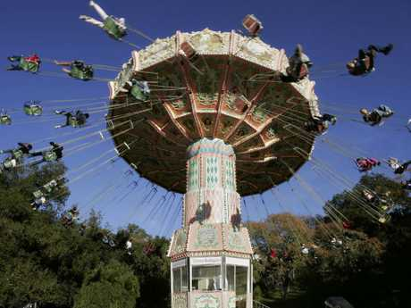 One of the amusement park attractions at his Neverland ranch. Picture: AP Photo/Mark J. Terrill