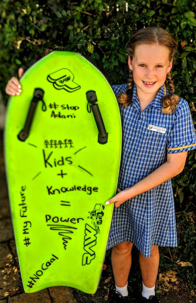 Jocelyn O'Neill of Sandgate is joining her siblings at the Brisbane School Strike for Climate.
