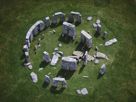 Aerial view of Stonehenge ca 3000 B.C. to 1000 B.C.
