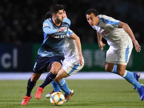 Paulo Retre #8 stepped in for Josh Brillante in Sydney FC's AFC Champions League Group H match against Kawasaki Frontale. Picture: Matt Roberts/Getty Images