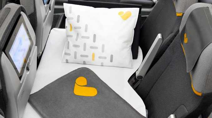 An airline in the UK has opened up a new way for flying for economy passengers. Picture: Thomas Cook Airlines