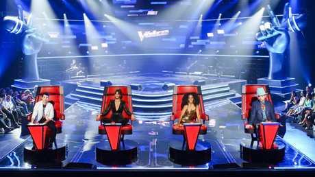 Last year's coaches on The Voice: Joe Jonas, Delta Goodrem, Kelly Rowland and Boy George.