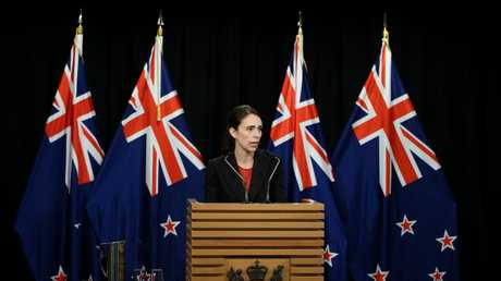 "Prime Minister Jacinda Ardern addresses the media in the wake of one of the country's ""darkest days"". Picture: Getty Images"
