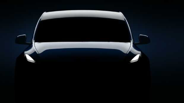 Tesla Model Y is due to be unveiled at 2pm today.