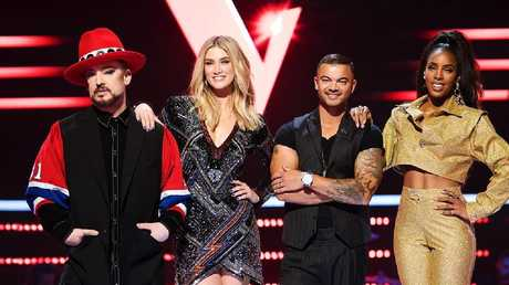 The Voice coaches for 2019: Boy George, Delta Goodrem, Guy Sebastian and Kelly Rowland.