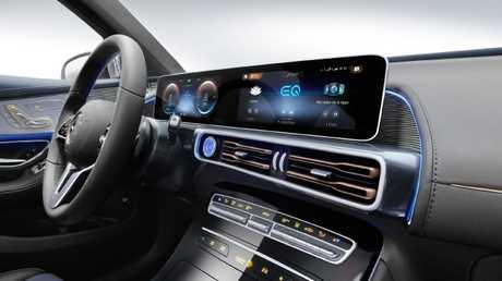 Mercedes-Benz EQ C will have a hitech interior.
