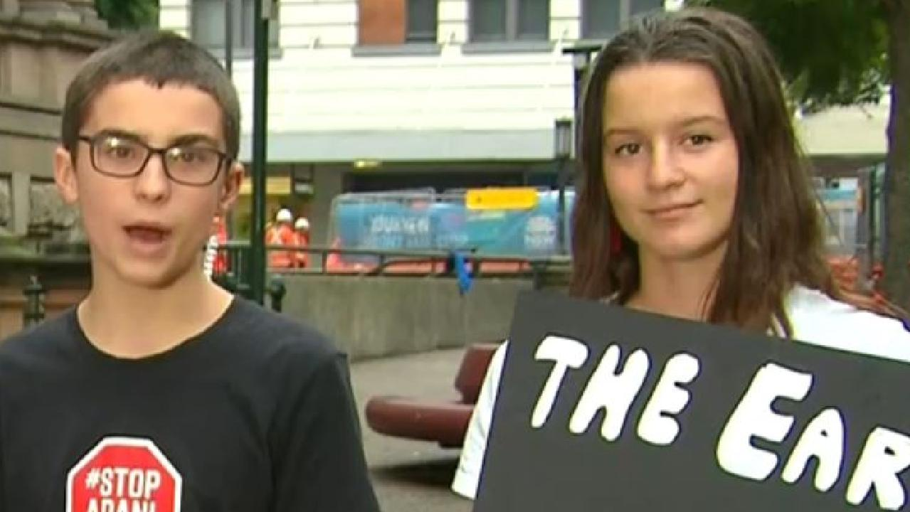 Climate-striking kids on the Today show said the criticism of their movement was 'insulting'. Picture: Today
