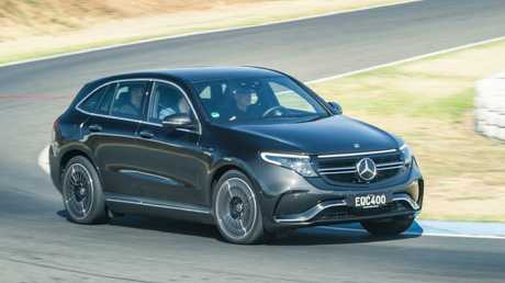 Australian customers were given rides in the new Mercedes-Benz EQ C.