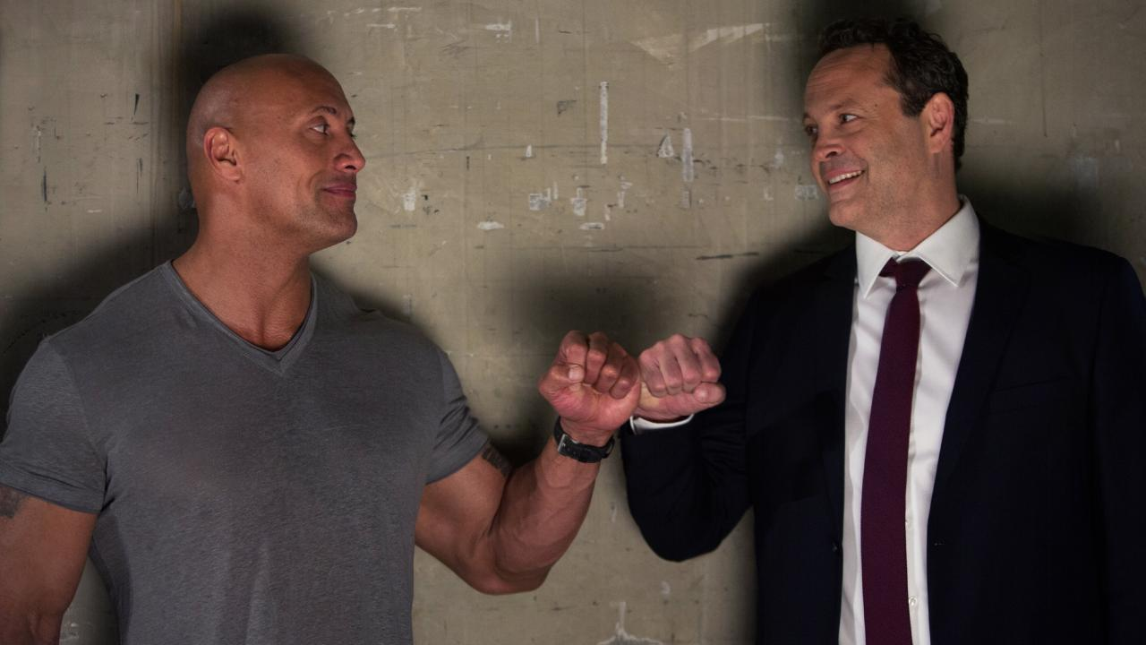 Dwayne Johnson and Vince Vaughn star in Fighting with My Family: Picture: Metro-Goldwyn-Mayer