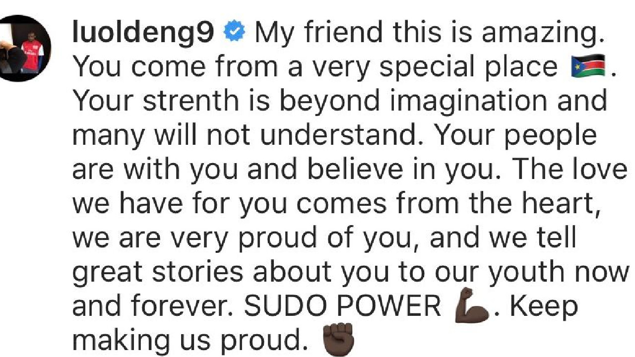 NBA star Luol Deng's message to Majak Daw.