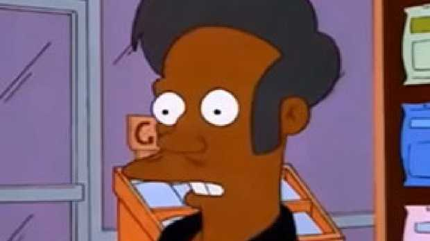 The Simpsons character Apu Nahasapeemapetilon faced racial backlash. Picture: Supplied